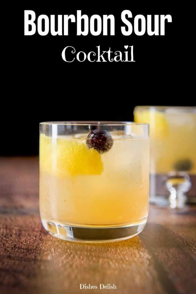 Bourbon Sour Cocktail for Pinterest 2