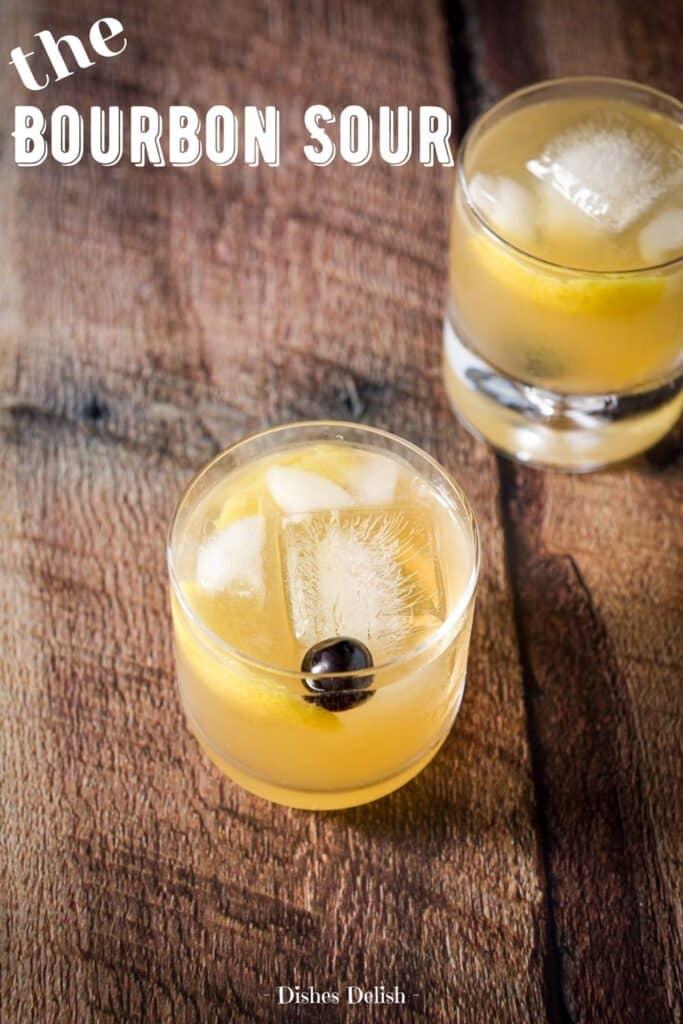 Bourbon Sour Cocktail for Pinterest 3