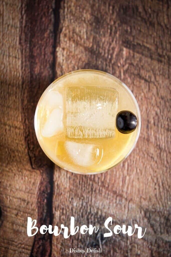 Bourbon Sour Cocktail for Pinterest 4