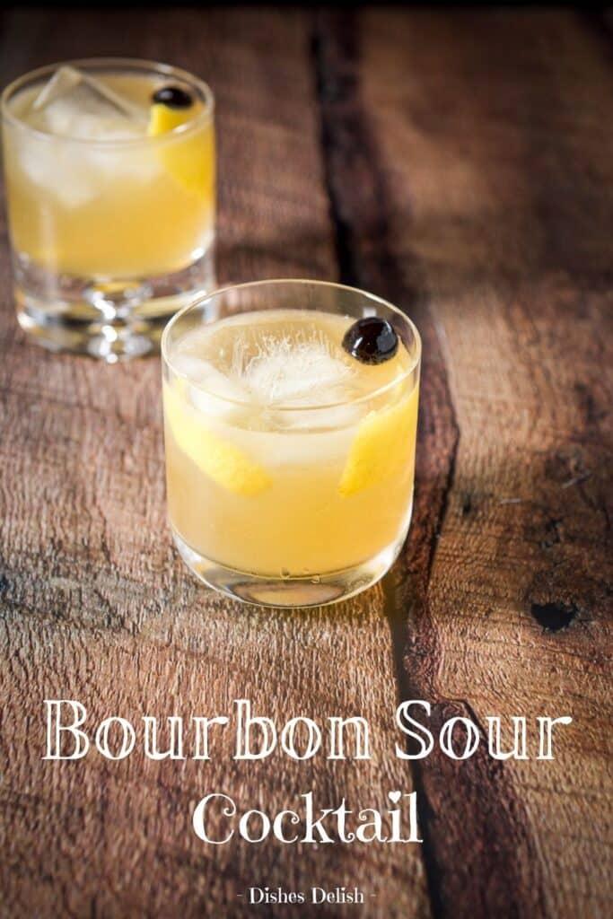 Bourbon Sour Cocktail for Pinterest 5