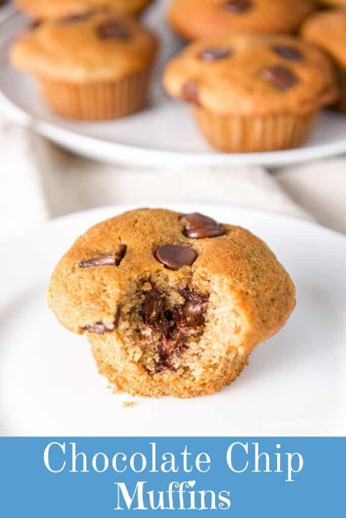Spelt Chocolate Chip Muffins for Pinterest 5