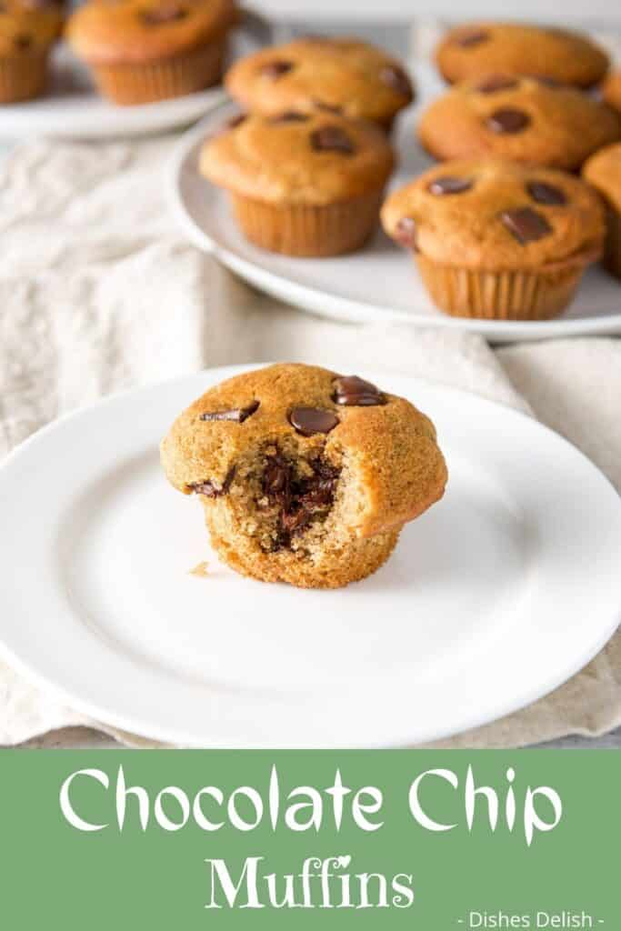Spelt Chocolate Chip Muffins for Pinterest 6