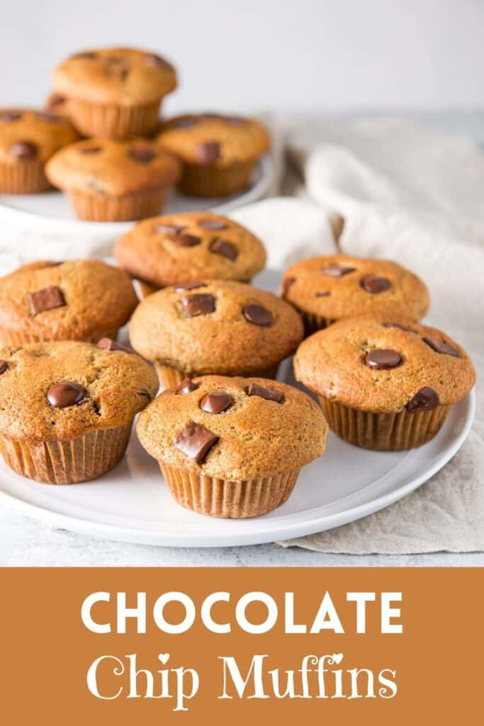 Spelt Chocolate Chip Muffins for Pinterest 8