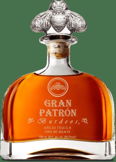 A bottle of gran patron burdeos