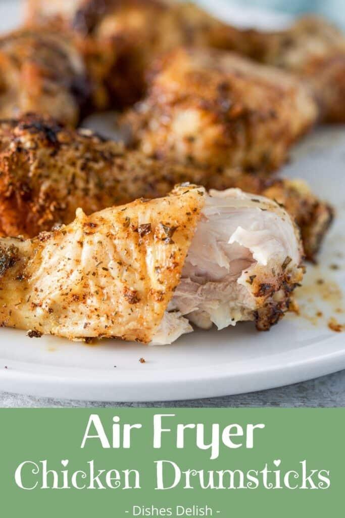Air Fryer Chicken Drumsticks for Pinterest 1