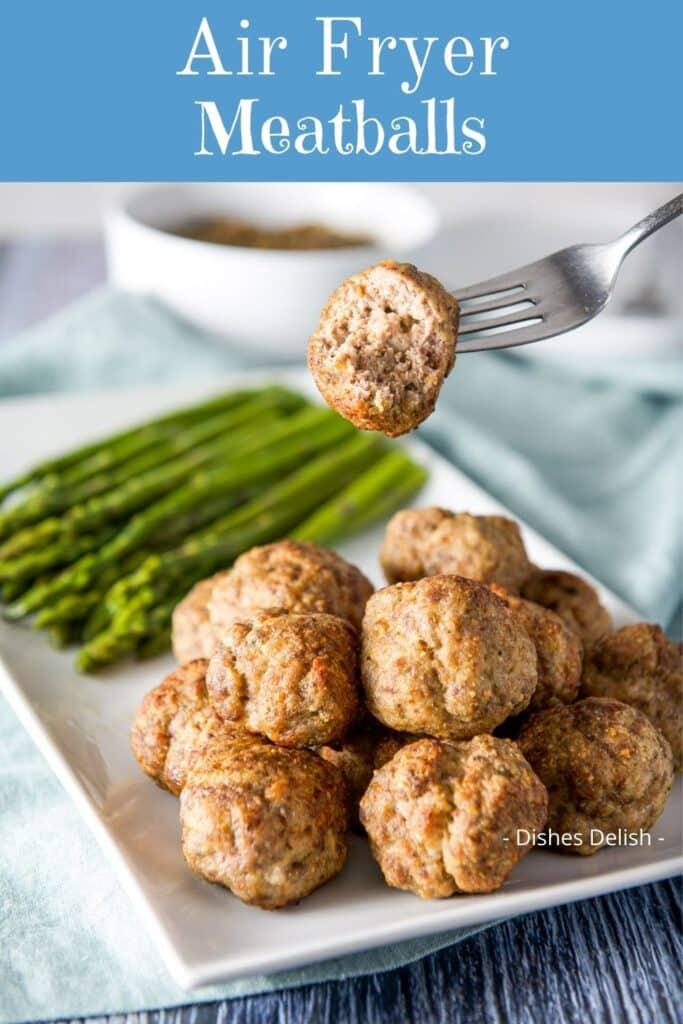 Air Fryer Meatballs for Pinterest 2