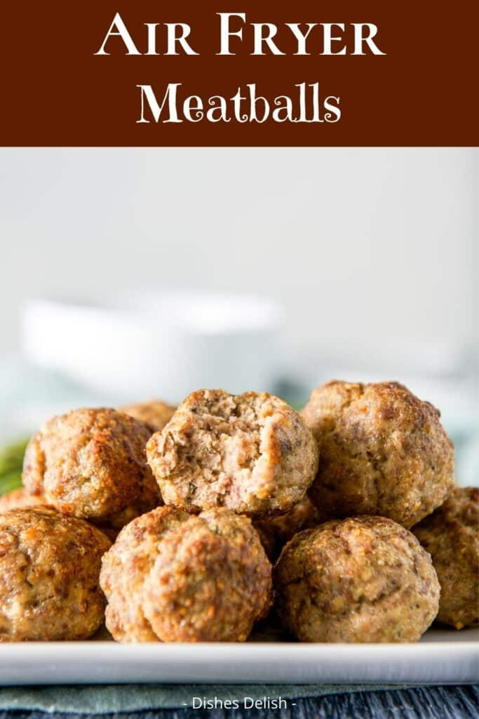 Air Fryer Meatballs for Pinterest 3