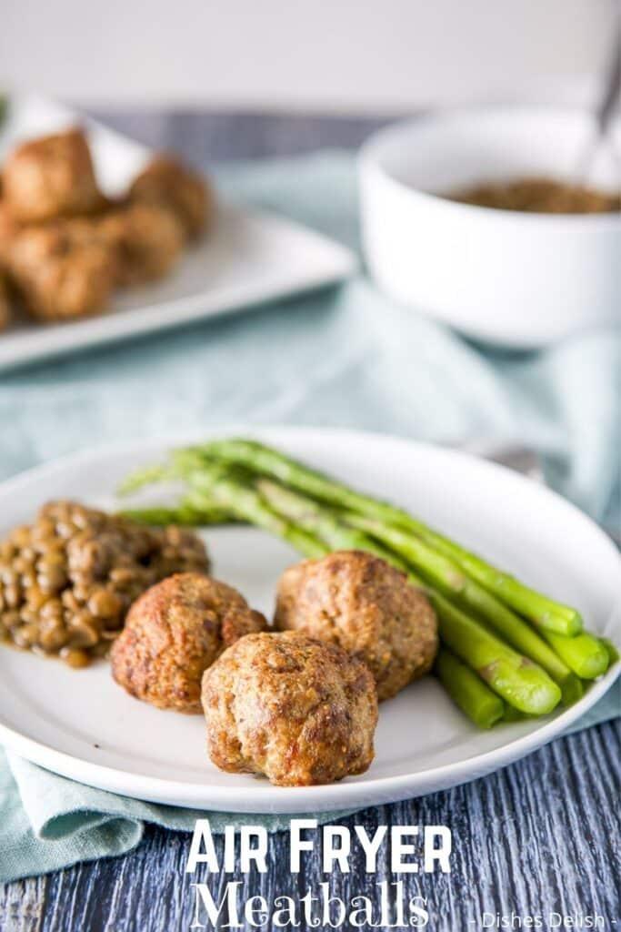 Air Fryer Meatballs for Pinterest 4