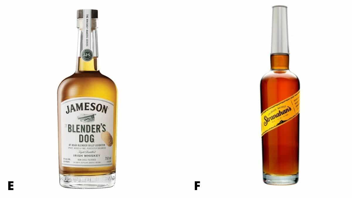 Jamerson Blender's Dog and Stranahans bottles of whiskey