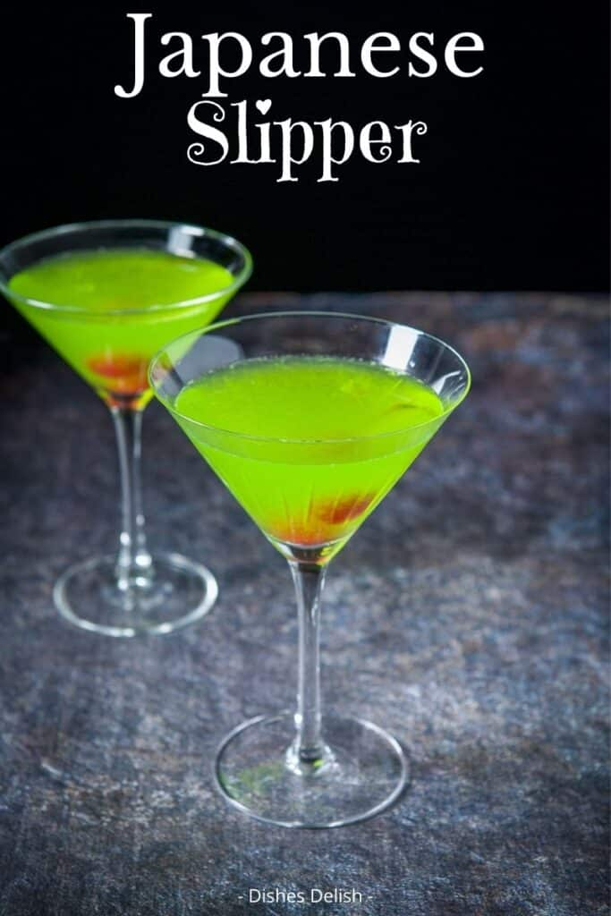 Japanese Slipper Cocktail for Pinterest