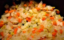 By sweating vegetables first before adding other ingredients you release their flavor and add character to a dish