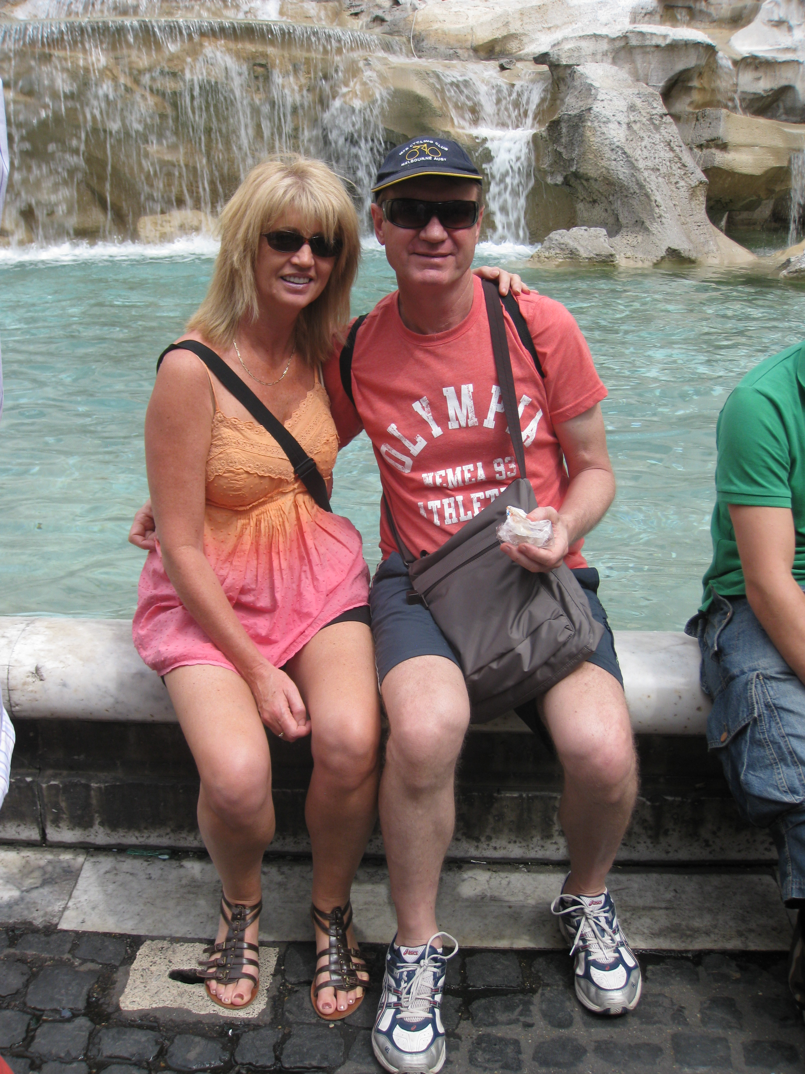 Col and I at Trevi fountain