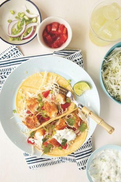 Dishing with Real Mom Nutrition - Fish Tacos