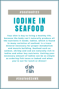 #Seafood123 Iodine in Seafood