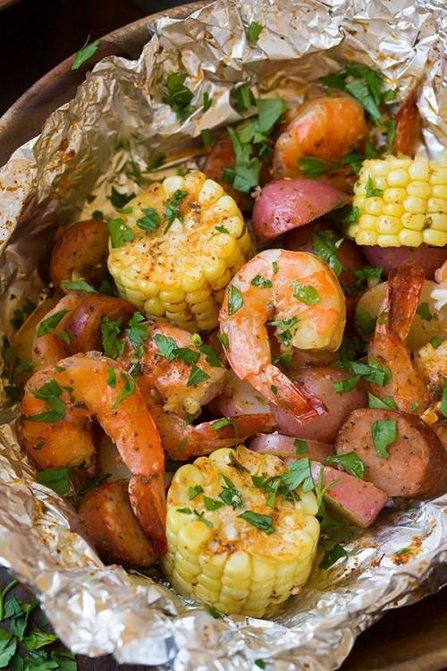 Grilled Shrimp Boil Packets