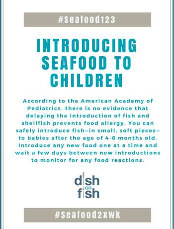#Seafood123 Introducing Seafood to Children