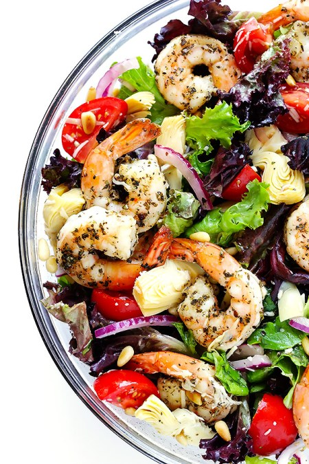 make-ahead seafood - Shrimp Artichoke Salad Recipe