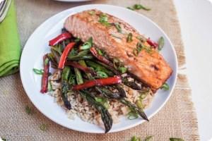 Sheet-Pan Asian Salmon with Veggies