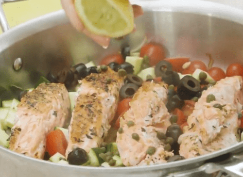 One Pan Med Salmon