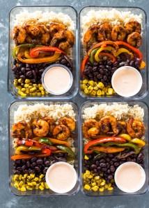 Shrimp Burrito Meal Prep