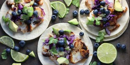Fish Tacos Blueberry