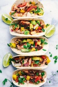Grilled Salmon Tacos Spicy