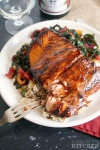 Salmon Honey Teriyaki - Rose Pairings
