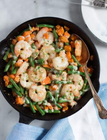 Shrimp-Skillet-with-Sweet-Potato-and-Green-Beans-4
