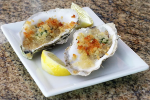 Herb baked oysters
