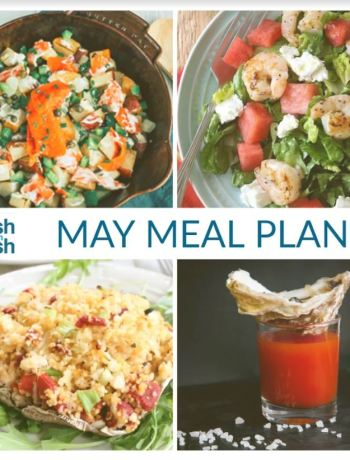 May's monthly meal plan