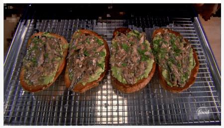 seafood meals and snacks - Sardine toast