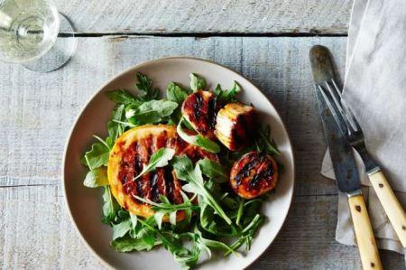 Mediterranean Diet  - Grilled scallop skewers