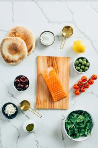 Salmon and ingredients
