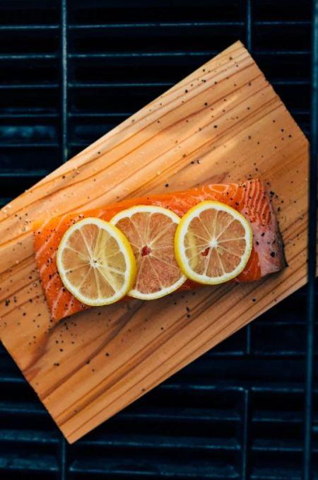 salmon gyros - Lemon salmon
