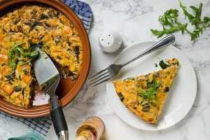 Eggs with tuna and mushroom