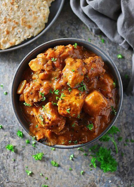 Swordfish tomato curry