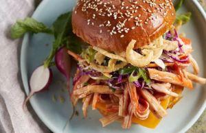 BBQ Pulled Alaska Surimi Sandwich