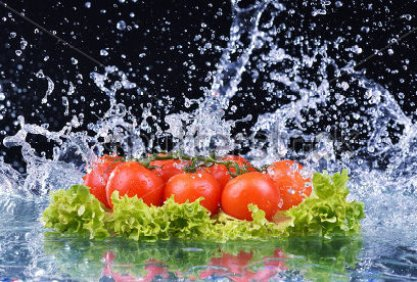 Veggies in water