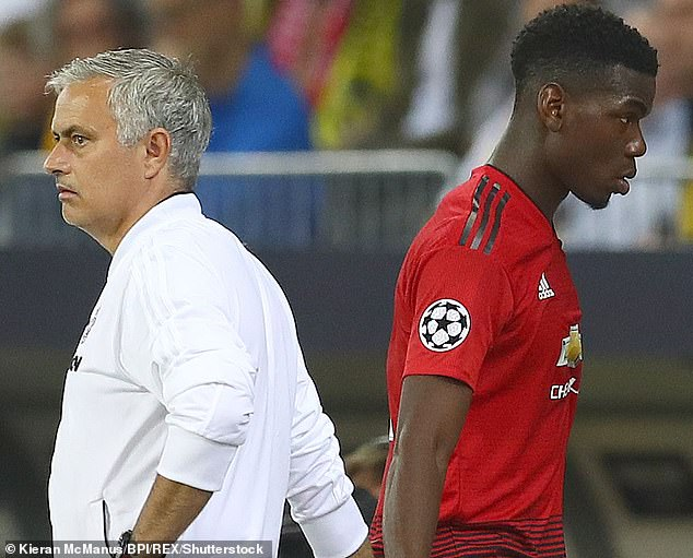 Jose Mourinho told Paul Pogba he will not captain Manchester United again