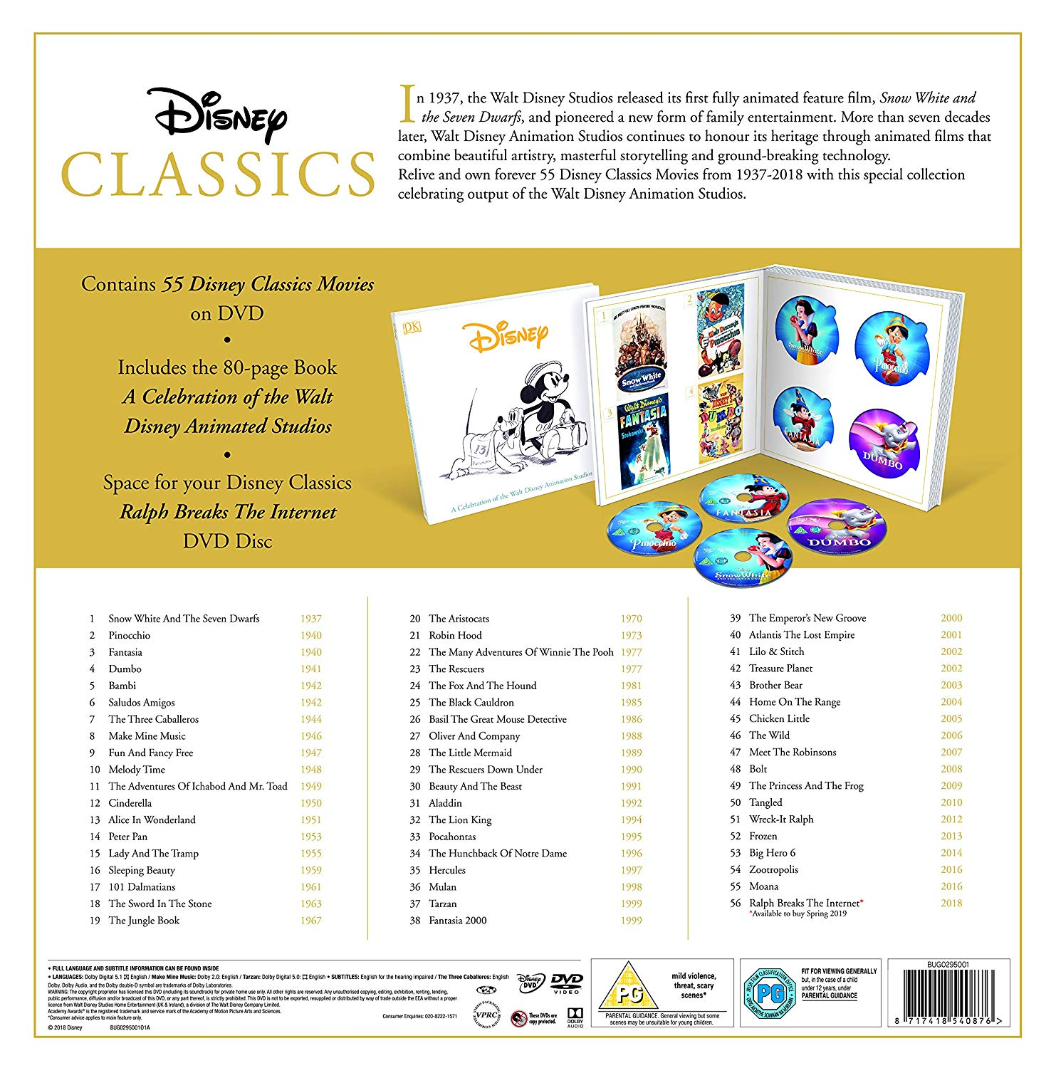 Disney Classics 1937 2018 Complete Movie Box Set Coming
