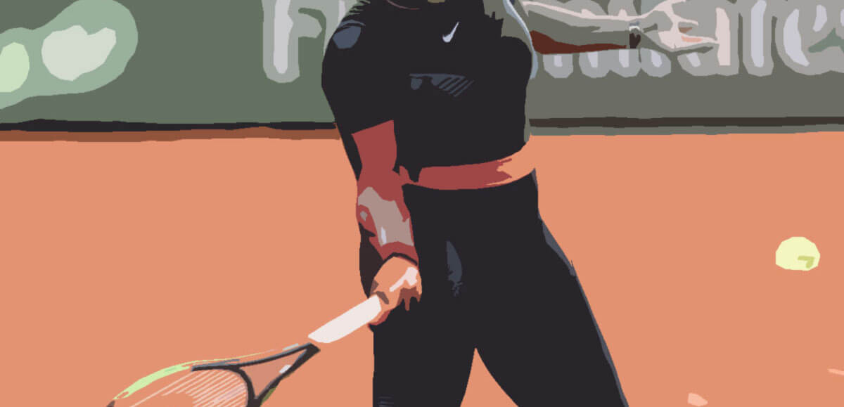Serena Williams in black catsuit