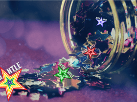 Stars falling out of a jar like our winter 2020 newsletter