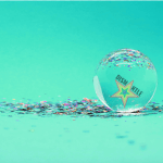Future Dismantle crystal ball on glitter with logo inside