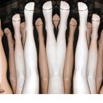A fan of mannequin legs waiting for leggings