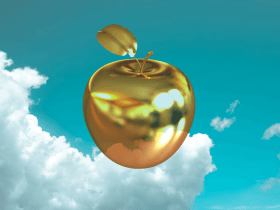 a golden apple signifying teaching excellence