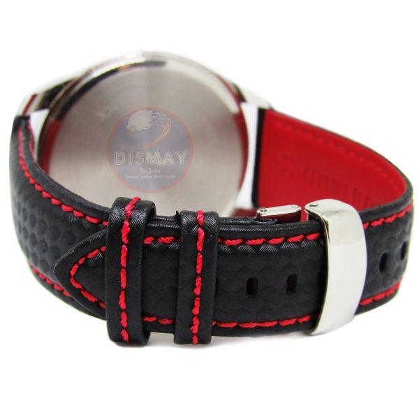 21 Carbon Fiber Leather Watch Strap