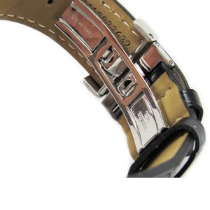 Tissot Watch Band Strap Black Leather