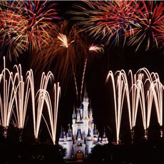 Cinderella Castle and Wishes Nighttime Spectacular