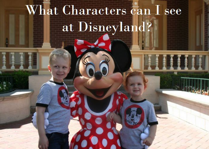 What Characters Can I See at the Disneyland Resort?