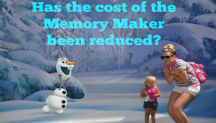 Has the cost of Disney's Memory Maker been reduced?